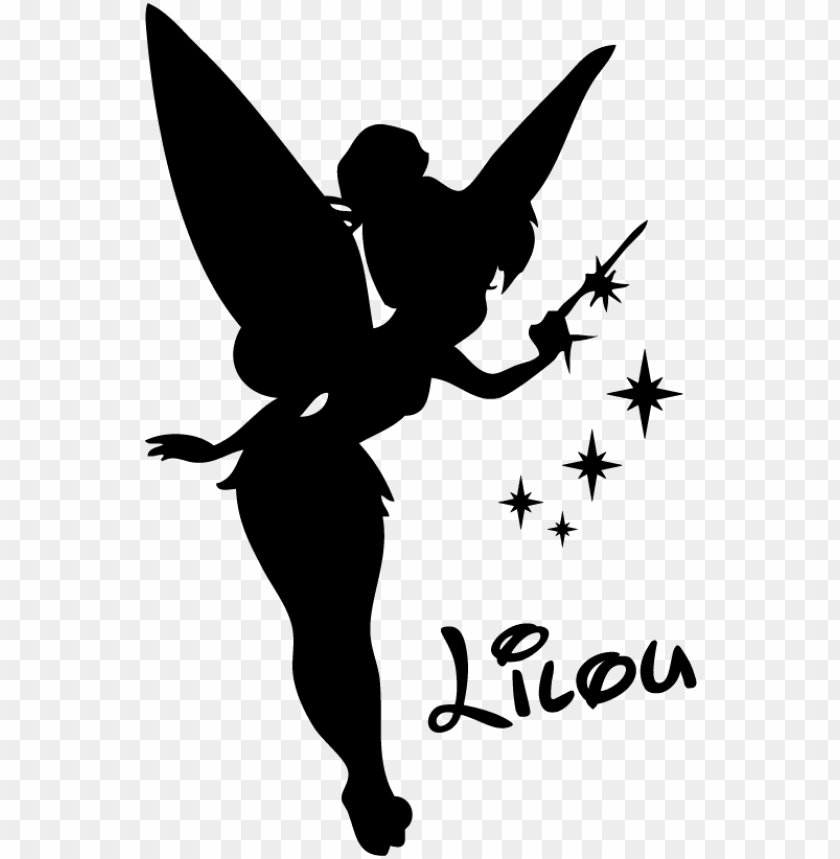 free PNG afficher l'image d'origine - tinkerbell silhouette PNG image with transparent background PNG images transparent