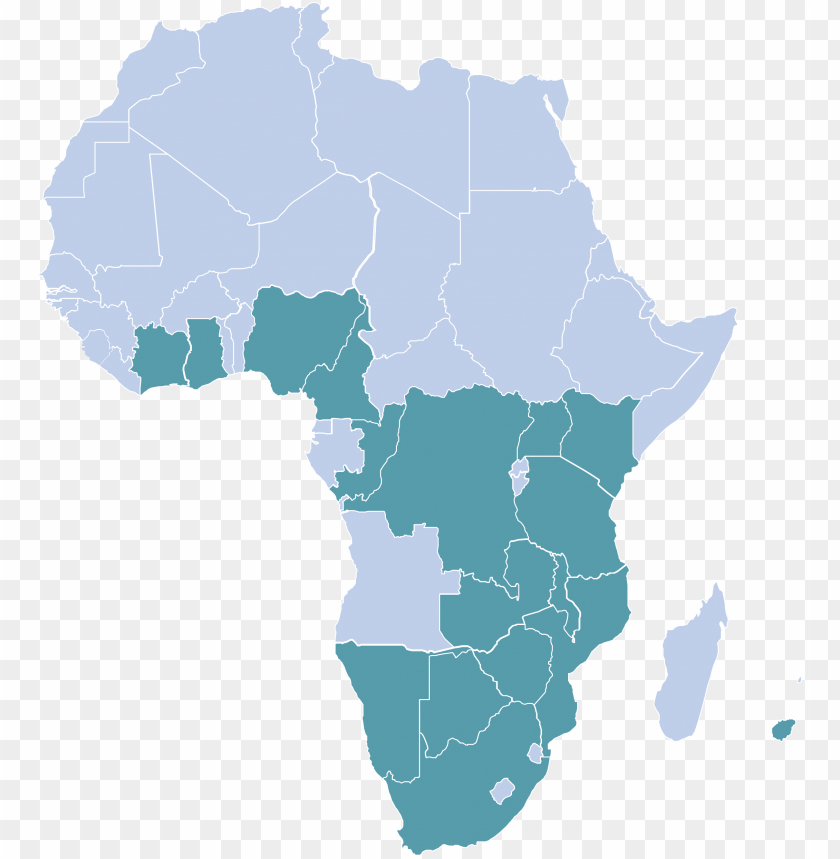 free PNG africa - black african map PNG image with transparent background PNG images transparent
