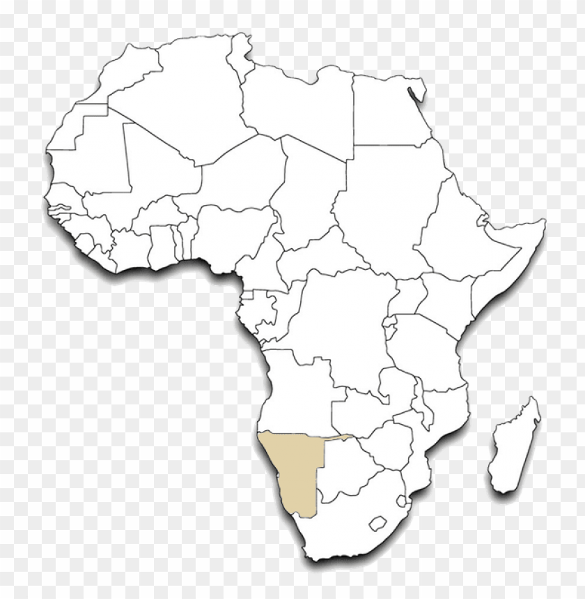 Outline Map Of Africa Printable.Africa Outline Map Namibia Png Transparent African Ma Png