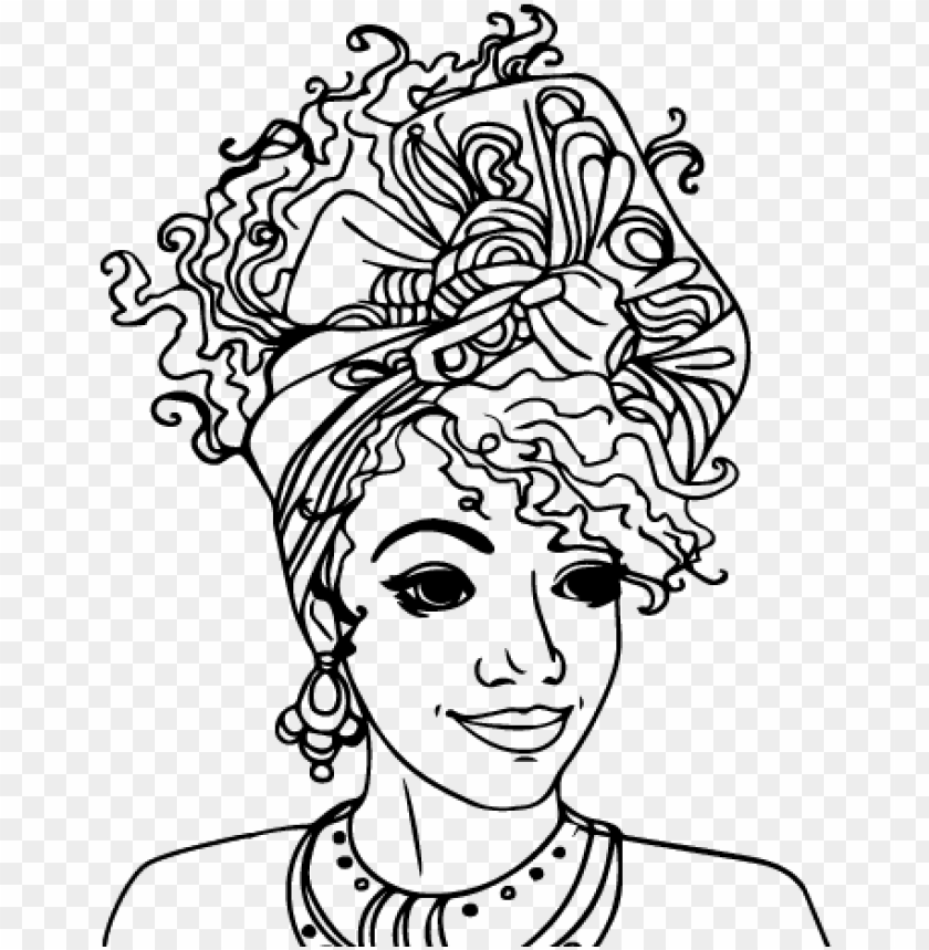 free PNG african american woman coloring pages - coloring pages for black women's history month PNG image with transparent background PNG images transparent