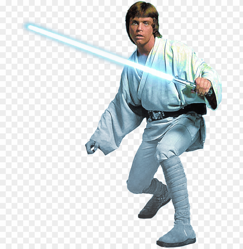 After Dropping His Blue Lightsaber Along With A Hand Luke Skywalker With Lightsaber Png Image With Transparent Background Toppng