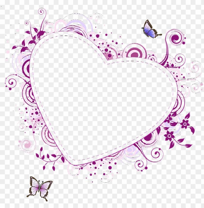 free PNG age borders design, border design, borders and frames, - flower heart frame PNG image with transparent background PNG images transparent
