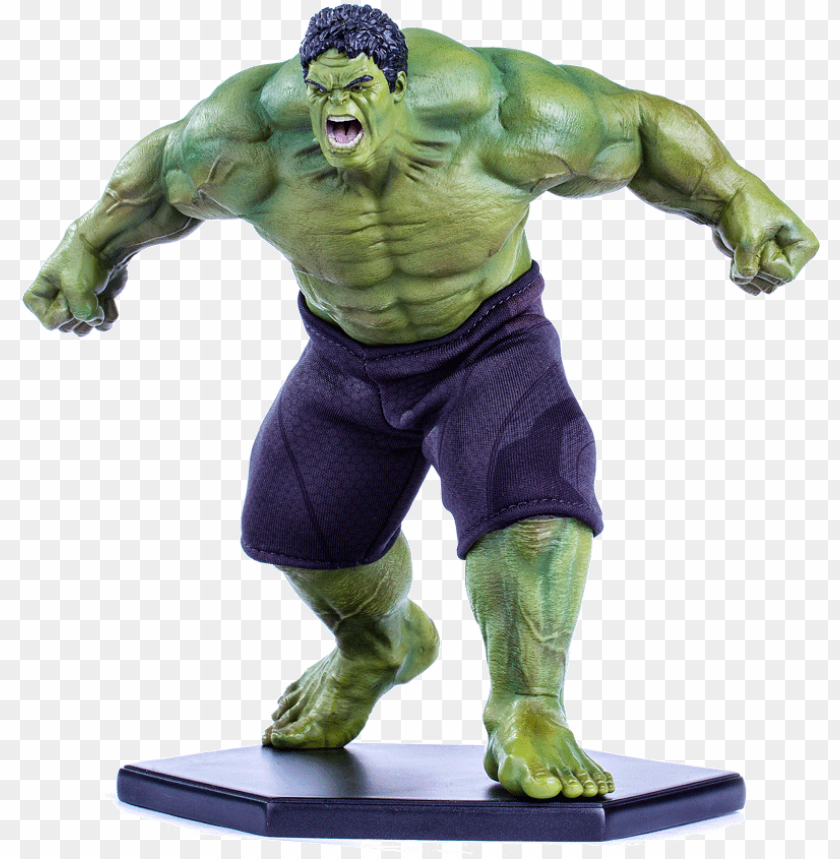 free PNG age of ultron - hulk 1/10 - avengers: age of ultron - iron studios PNG image with transparent background PNG images transparent