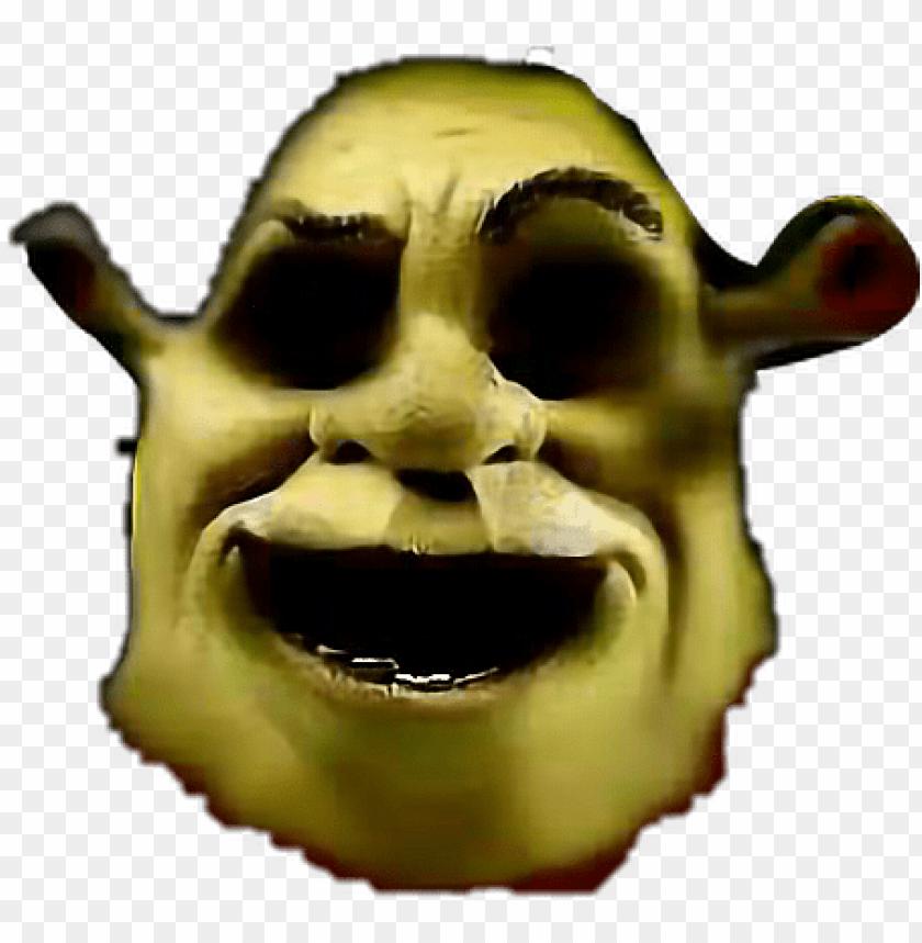 free PNG ahhhhh spooky scary shrek shrekisloveshrekislife memes - shrek face transparent background PNG image with transparent background PNG images transparent