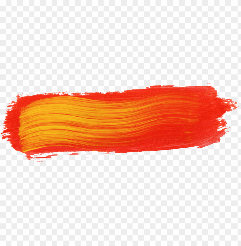 aint brush stroke png download - orange paint brush stroke PNG image with transparent background@toppng.com
