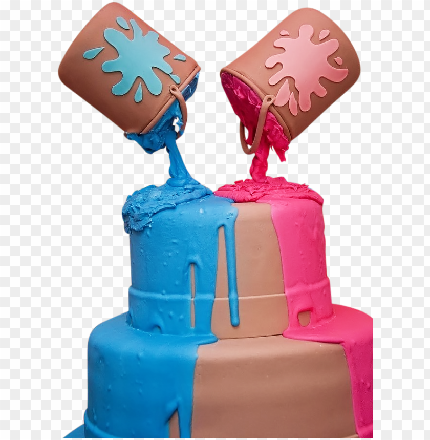 free PNG aint cans cake - paint can gender reveal cake PNG image with transparent background PNG images transparent