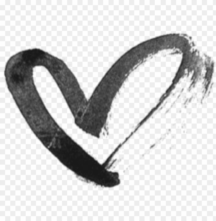 free PNG aint color splash black heart hearts aesthetic icon - heart drawing tumblr PNG image with transparent background PNG images transparent