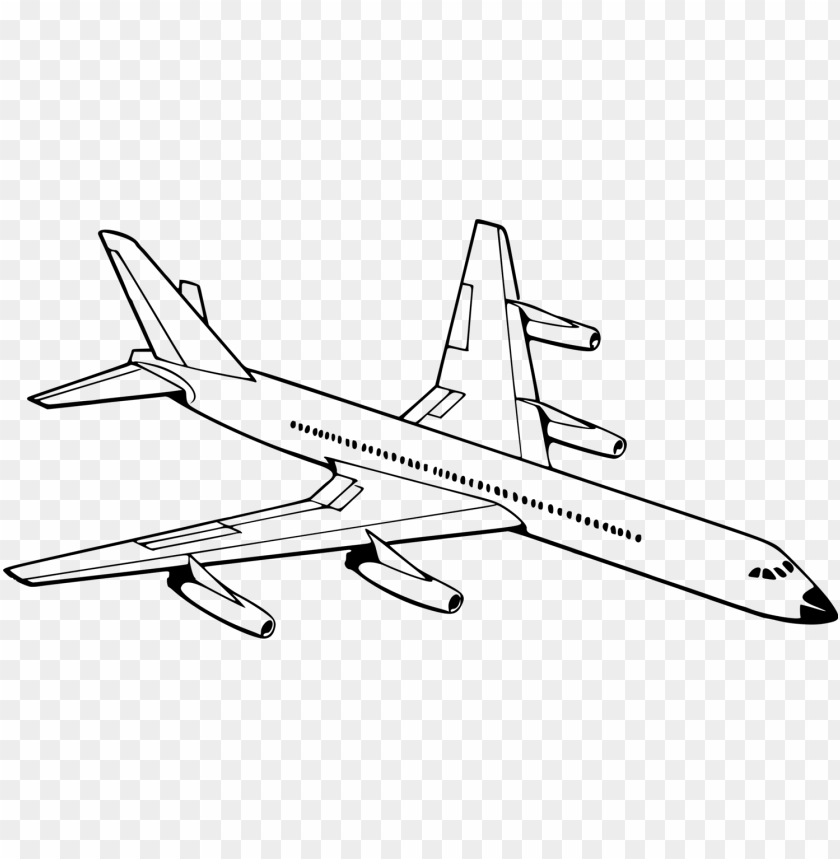 free PNG airplane aircraft drawing aviation black and white - sketch of an aeroplane PNG image with transparent background PNG images transparent