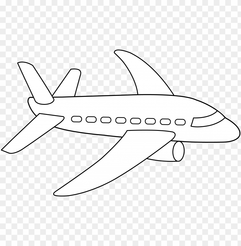 - Airplane Coloring Page Free PNG Image With Transparent Background TOPpng