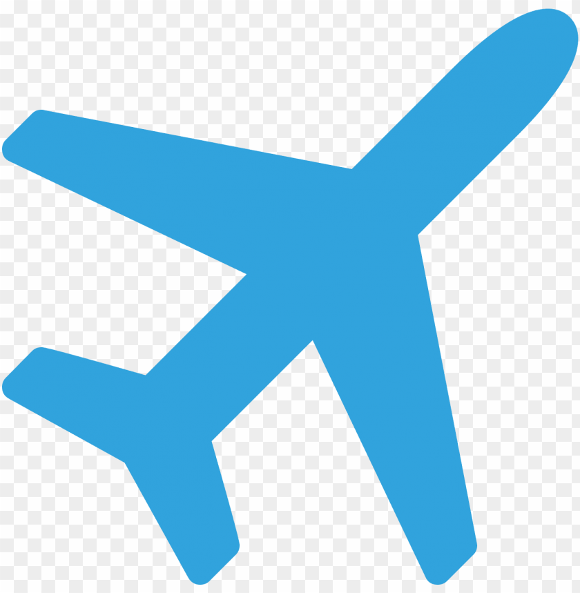 Airplane Icon Blue Png Image With Transparent Background Toppng