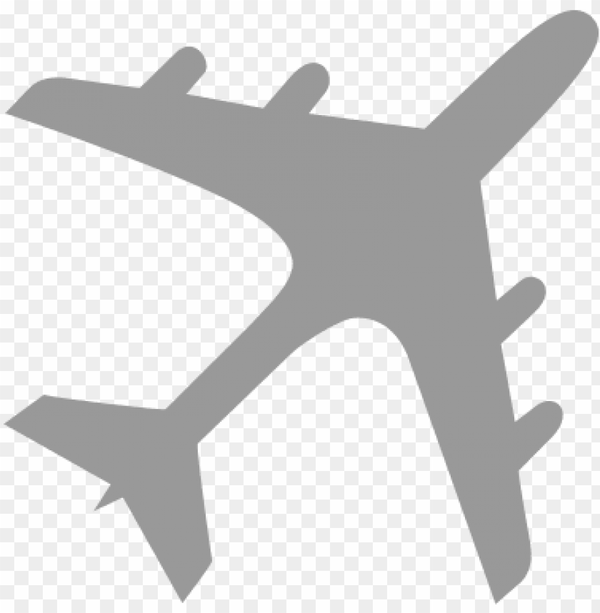 Airplane Silhouette Gray Transparent Background Airplane Clipart