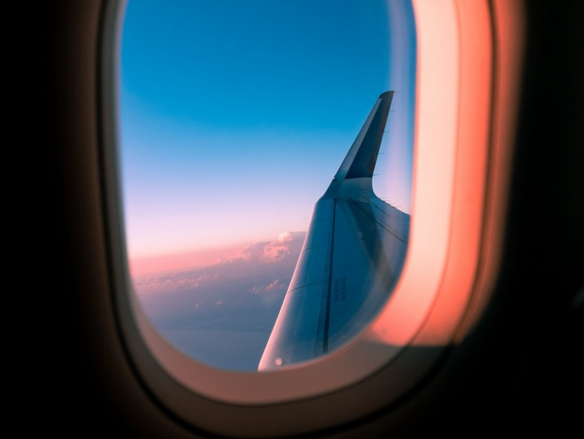 Airplane Window Porthole Wing View Background Toppng