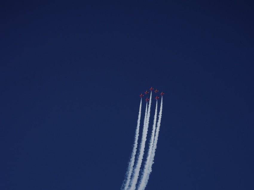 free PNG airplanes, smoke, aerobatics, stunt, flight background PNG images transparent