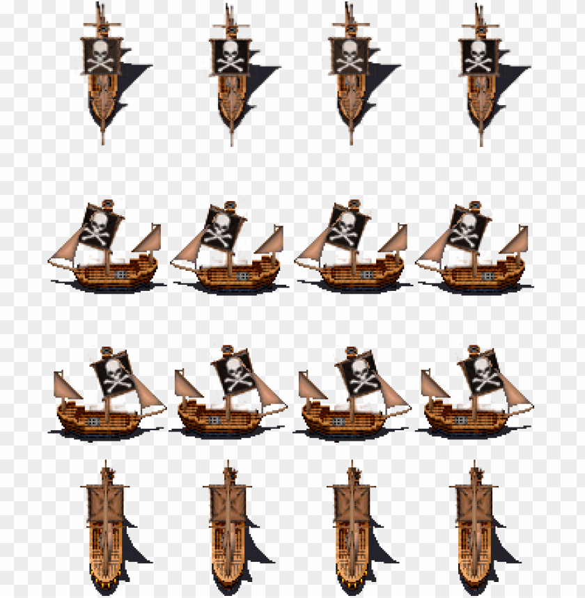 free PNG alaga ship sprite png xp] pirate rtp style battler - pirate ship sprite sheet PNG image with transparent background PNG images transparent