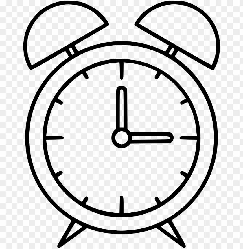 Alarm Clock Easy Drawings Of A Clock Png Image With Transparent Background Toppng