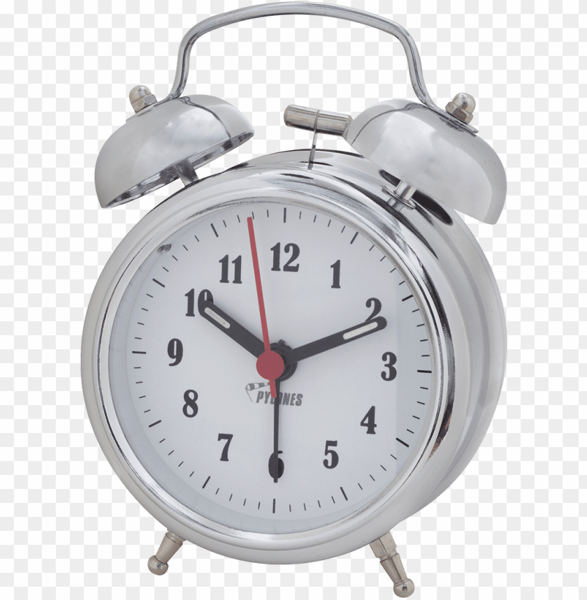 free PNG alarm clock png - chrome red standard neon clock PNG image with transparent background PNG images transparent