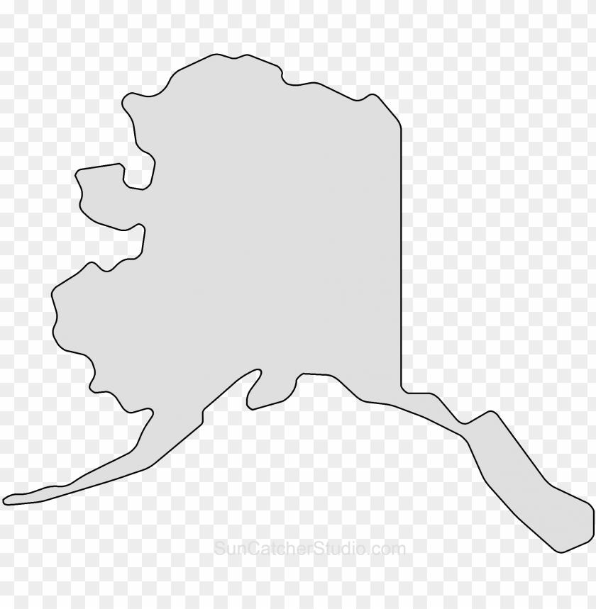 free PNG alaska map outline png shape state stencil clip art - alaska outline PNG image with transparent background PNG images transparent