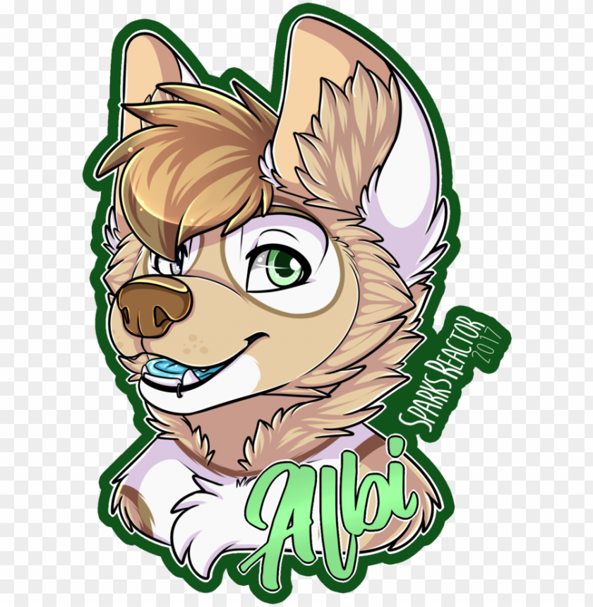 albi badge by sparksfur furry drawing, wolves art, - drawi PNG image with transparent background@toppng.com