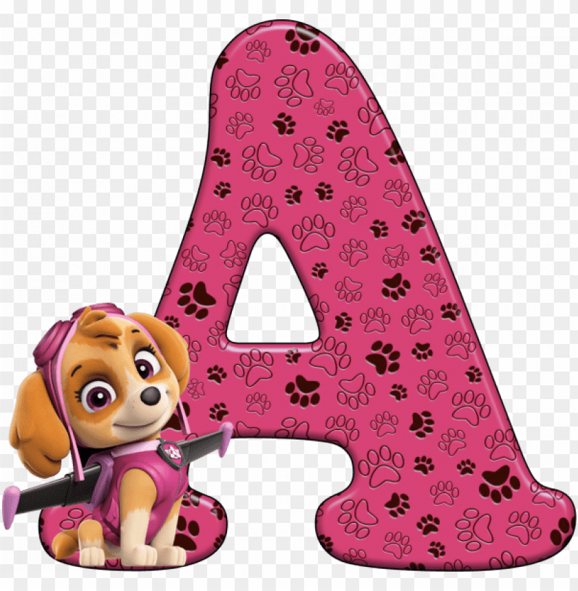free PNG alfabeto - patrulha canina - skye 1 - png - personalized custom birthday t-shirt paw patrol skye PNG image with transparent background PNG images transparent