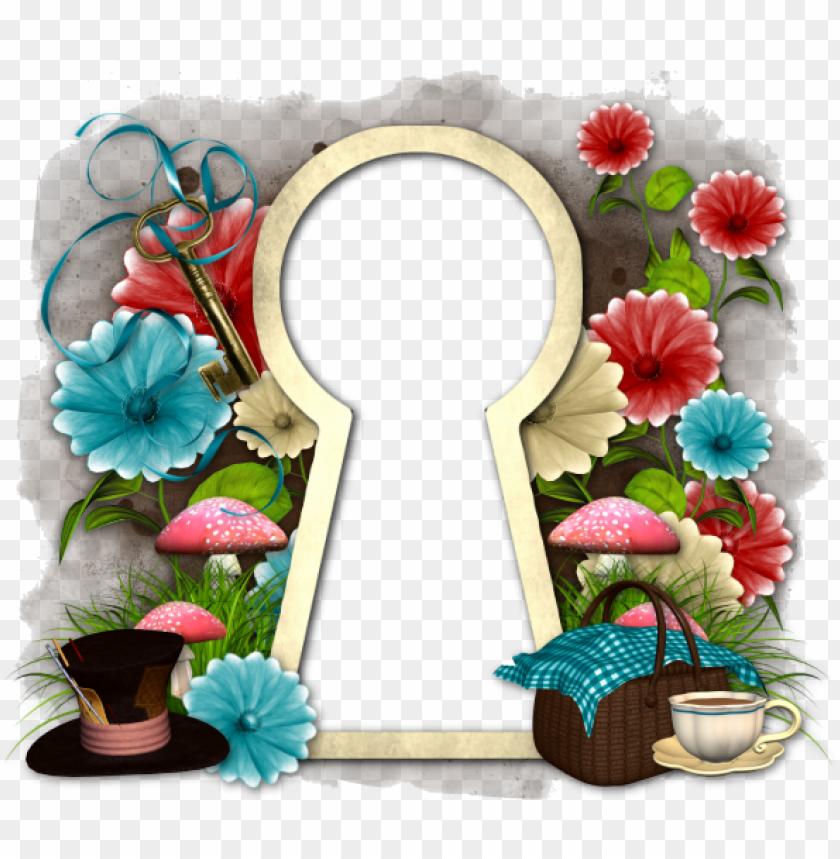 alice in wonderland keyhole clipart - 860×607