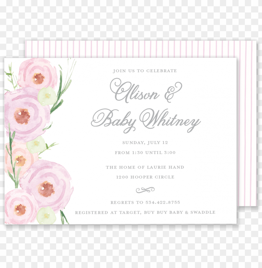 free PNG alison watercolor roses invitation - watercolor roses wedding card PNG image with transparent background PNG images transparent