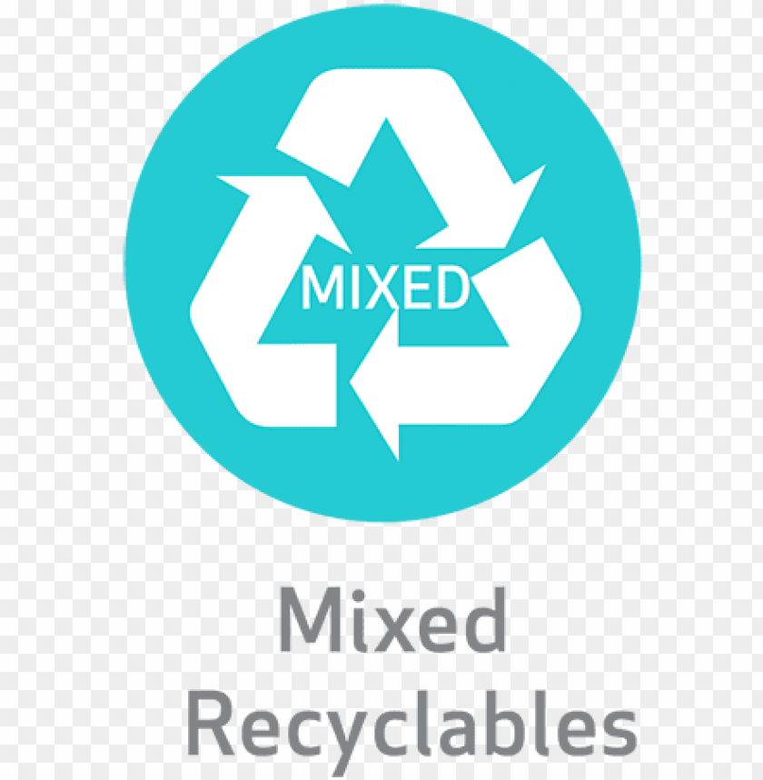 free PNG all of them all of these items can go in the mixed - recycle symbol PNG image with transparent background PNG images transparent