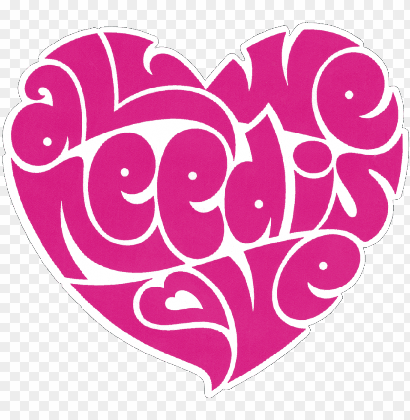 free PNG all we need is love beatles lennon heart - all we need is love heart PNG image with transparent background PNG images transparent