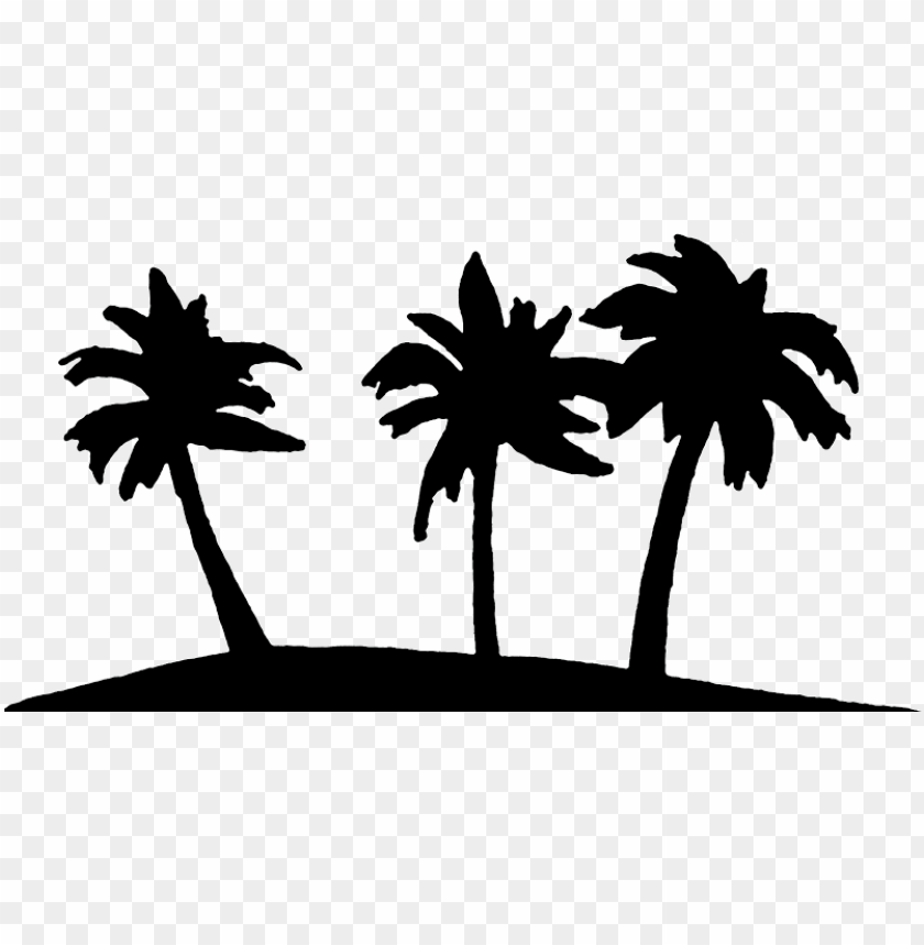 free PNG alm tree art tropical palm trees clip clipart - palm tree island clip art black and white PNG image with transparent background PNG images transparent