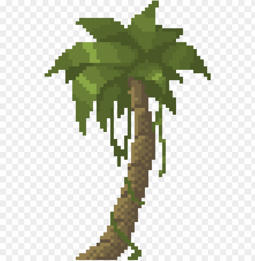 free PNG alm tree by benthedwarf on deviantart pixel art, palm - pixel palm tree PNG image with transparent background PNG images transparent
