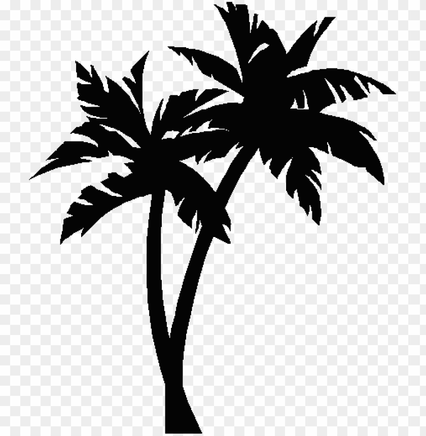 Alm Tree No Background Free Clipart Images 2 U2013 Palm Tree Silhouette Sv Png Image With Transparent Background Toppng
