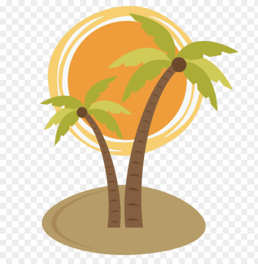 free PNG alm tree with sun svg file for scrapooking cardmaking - palm tree and su PNG image with transparent background PNG images transparent