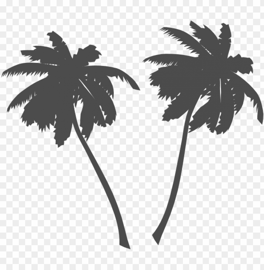 free PNG alm trees and sun black and white png vector - palm tree clip art PNG image with transparent background PNG images transparent
