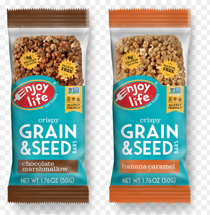 free PNG also, chocolate marshmallow and banana caramel grain - enjoy life foods crispy grain seed bars maple sweet PNG image with transparent background PNG images transparent