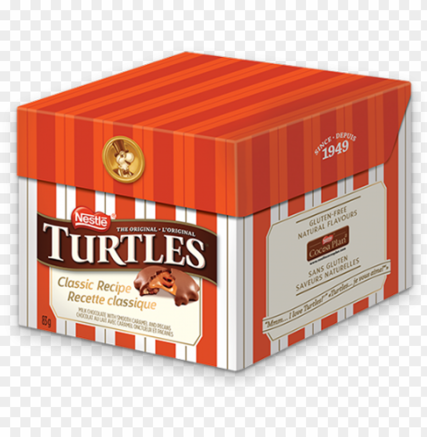free PNG alt text placeholder - turtles turtles classic recipe smooth caramel and pecans PNG image with transparent background PNG images transparent