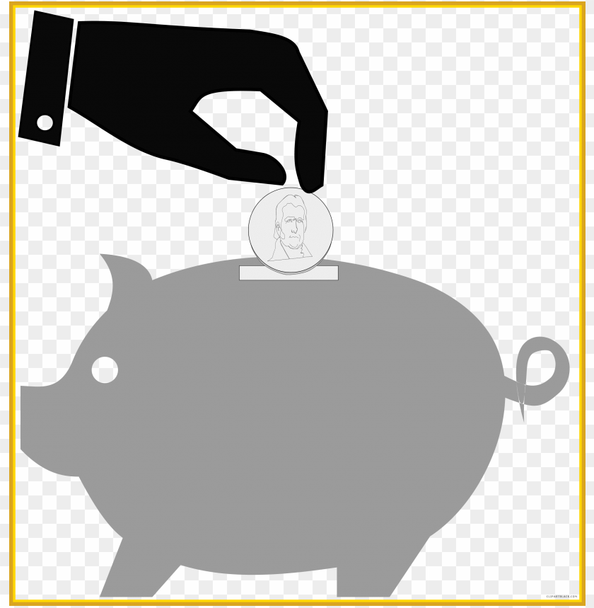 free PNG amazing piggy bank and falling coins royalty vector - gambar kartun celenga PNG image with transparent background PNG images transparent