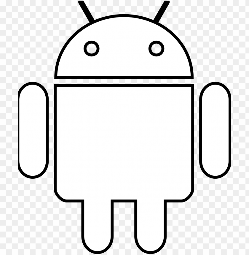 Amd Clipart Android Logo White Sv Png Image With Transparent Background Toppng