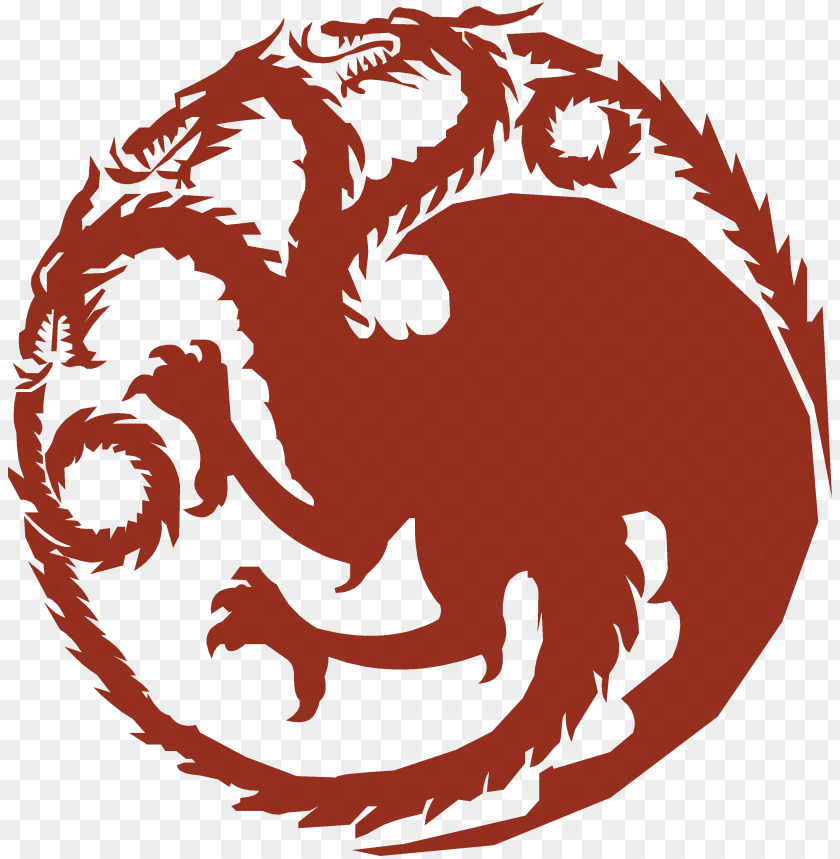 free PNG ame of thrones clip art - house targaryen sigil PNG image with transparent background PNG images transparent