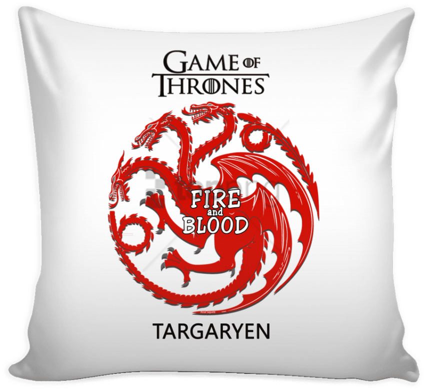 free PNG ame of thrones pillow cover targaryen fire and blood - game of thrones targaryen logo PNG image with transparent background PNG images transparent