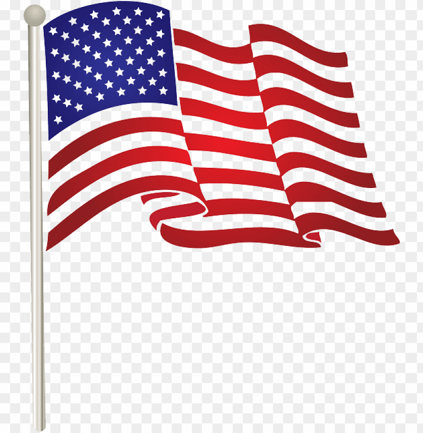 free PNG american flag clipart fourth july - american flag clip art PNG image with transparent background PNG images transparent