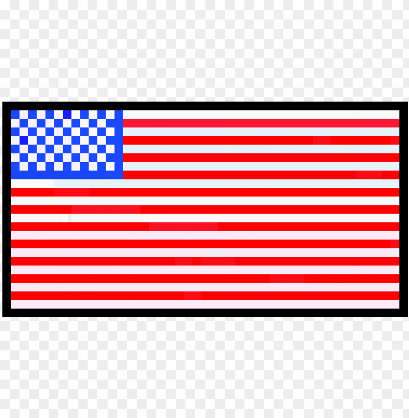American Flag Pixel Art Template Free By Deviant Miners