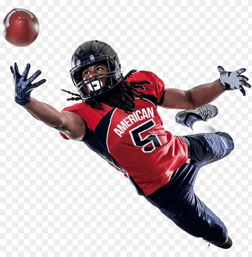 free PNG american football player catching a ball png image - american football players PNG image with transparent background PNG images transparent