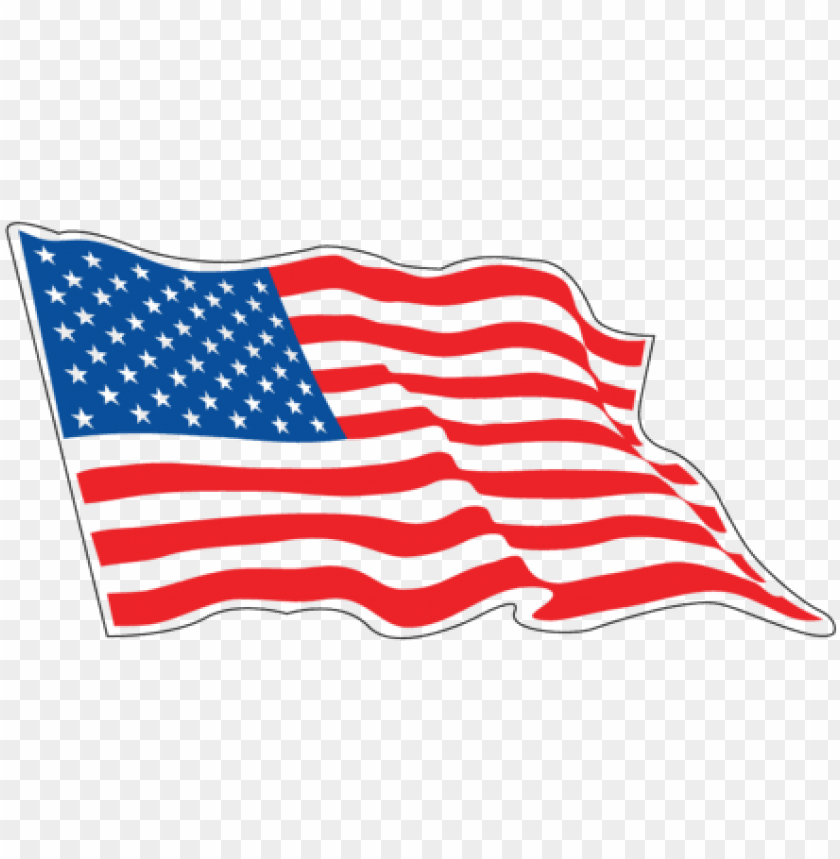 free PNG american race flag decals sizes 3inch - rippling american fla PNG image with transparent background PNG images transparent