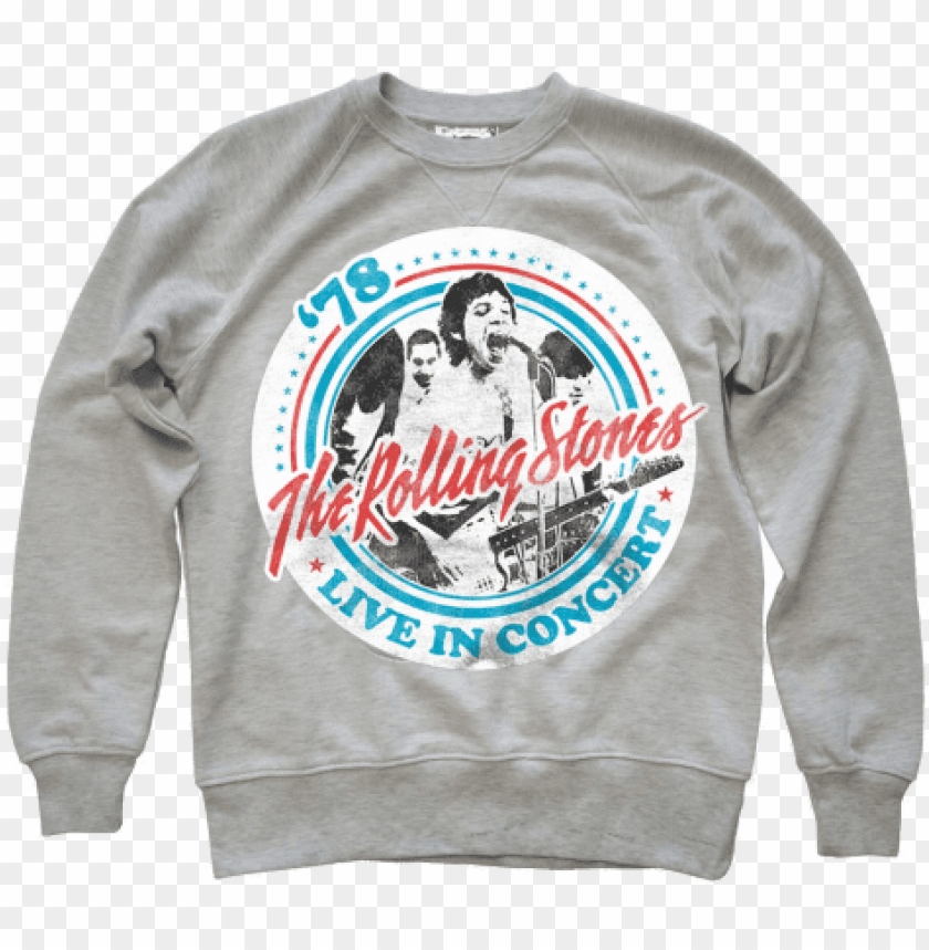 free PNG amplified mens the rolling stones tour 82 oatmeal sweaters - rolling stones t shirt PNG image with transparent background PNG images transparent