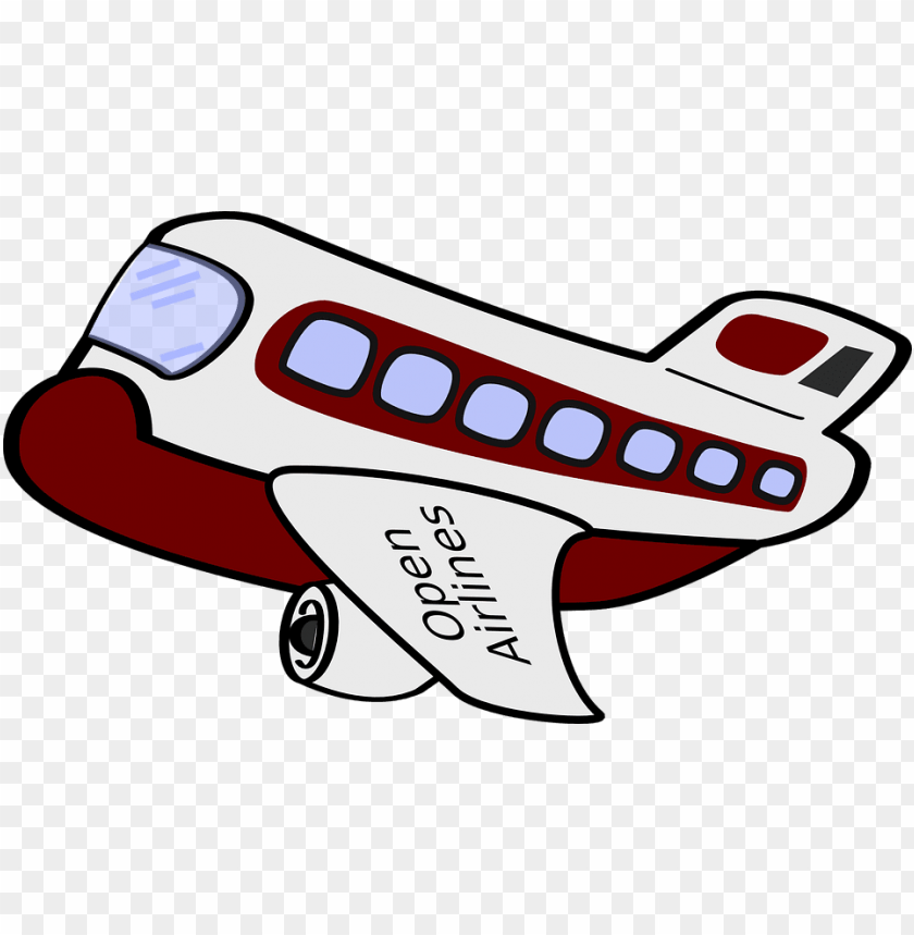 free PNG an interesting plane - plane cartoon vector PNG image with transparent background PNG images transparent