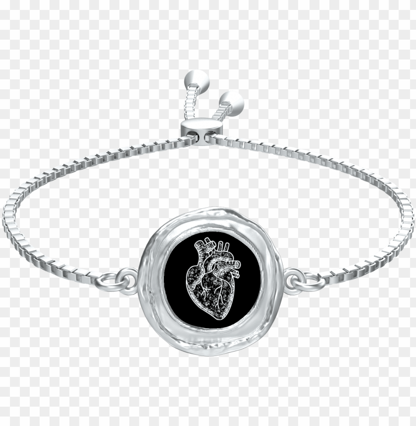 free PNG anatomical heart slider coin bracelet - bracelet PNG image with transparent background PNG images transparent