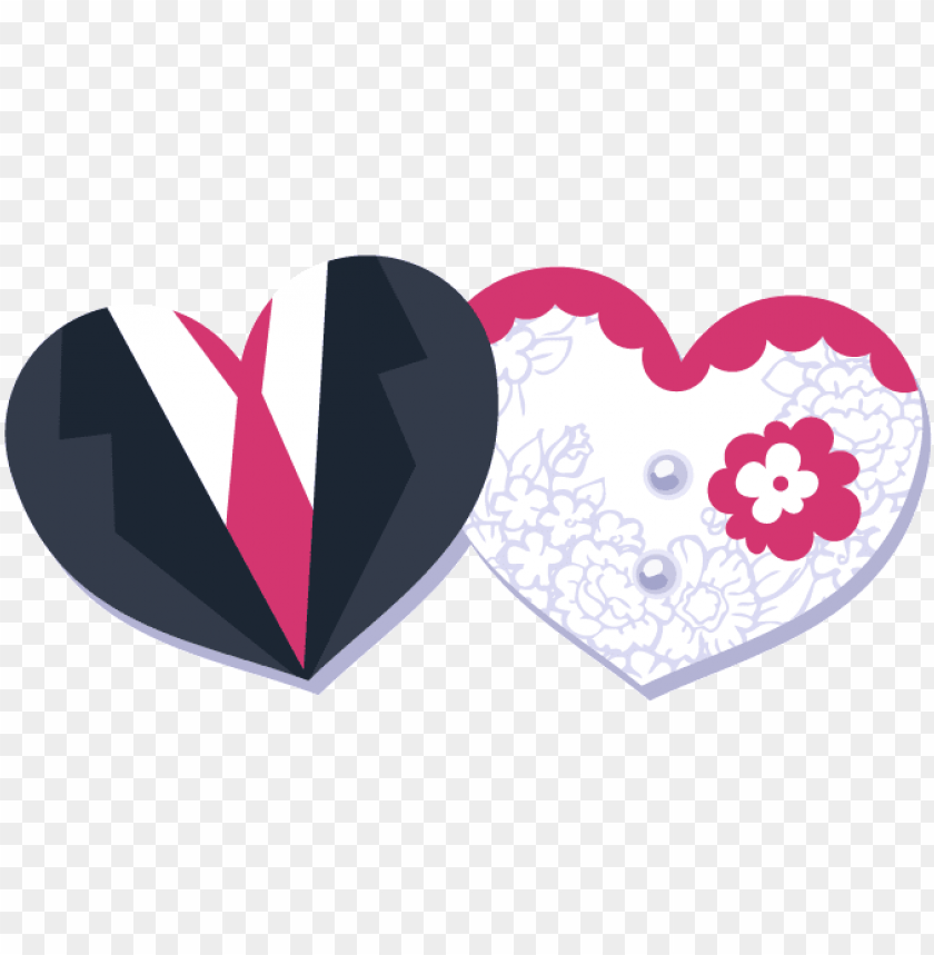 And Wedding Groomvectordecorative Heart Shapedbride