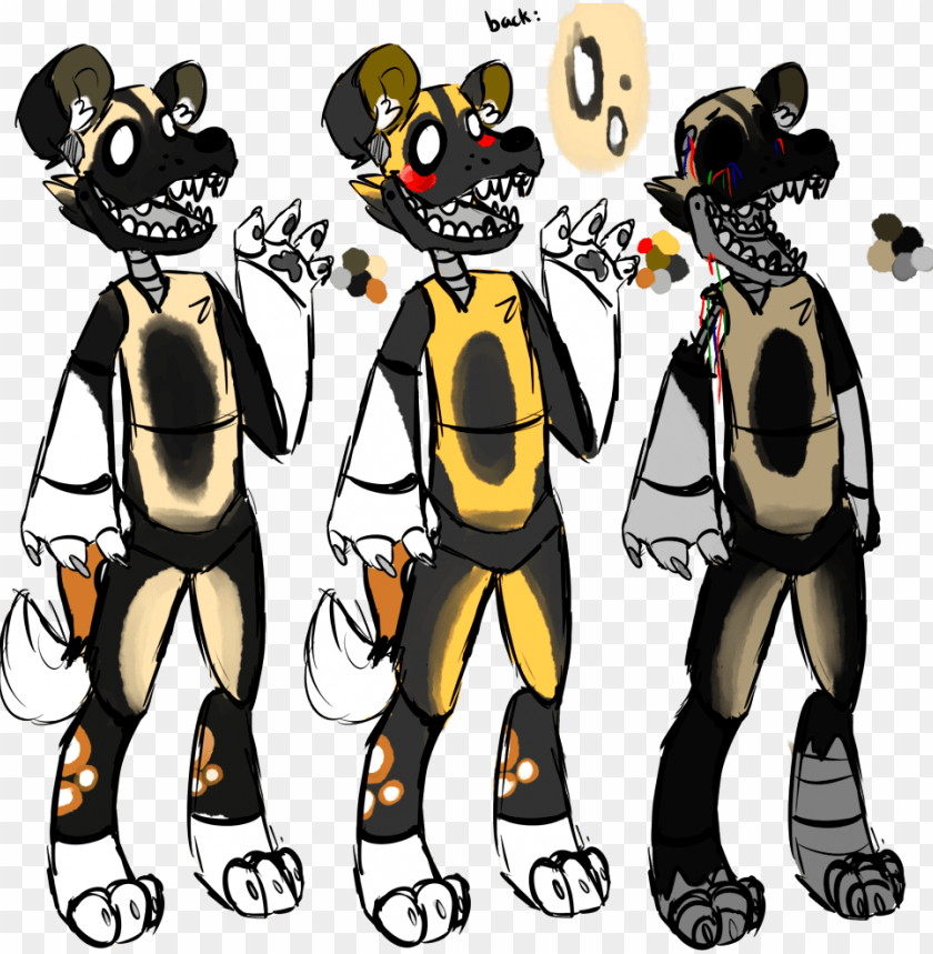 Andie African Wild Dog Fnaf Oc By Txicl On Deviantart Fnaf African Wild Do Png Image With Transparent Background Toppng