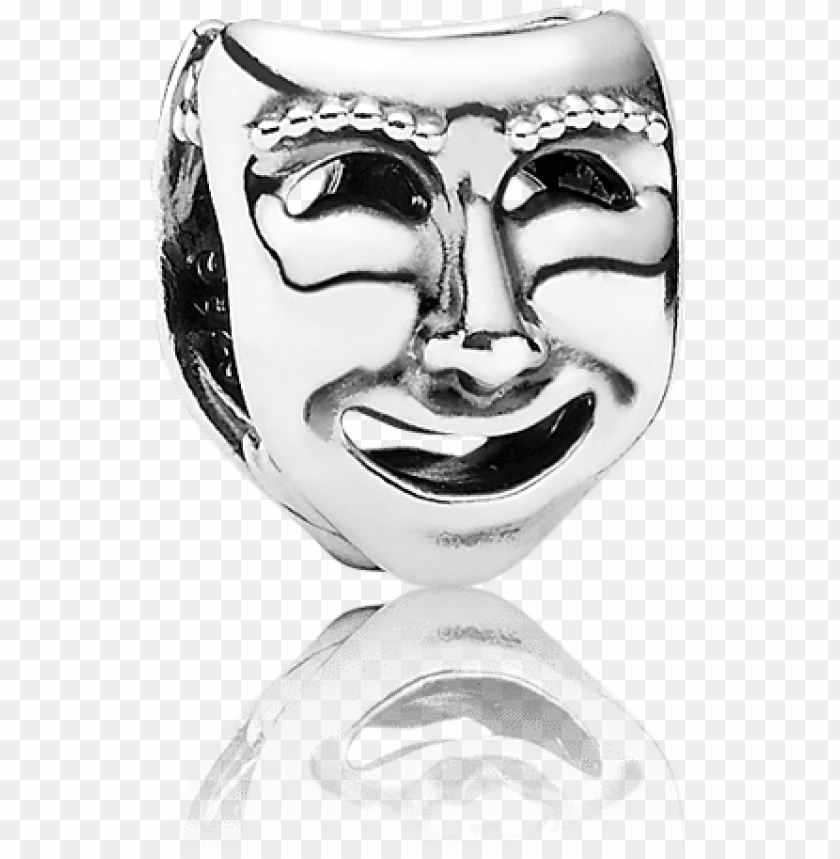 free PNG andora the world's a stage / theatre masks charm [item - pandora theatre masks charm PNG image with transparent background PNG images transparent
