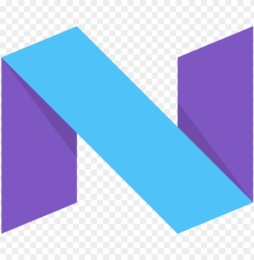 free PNG android n - android 7 nougat logo PNG image with transparent background PNG images transparent