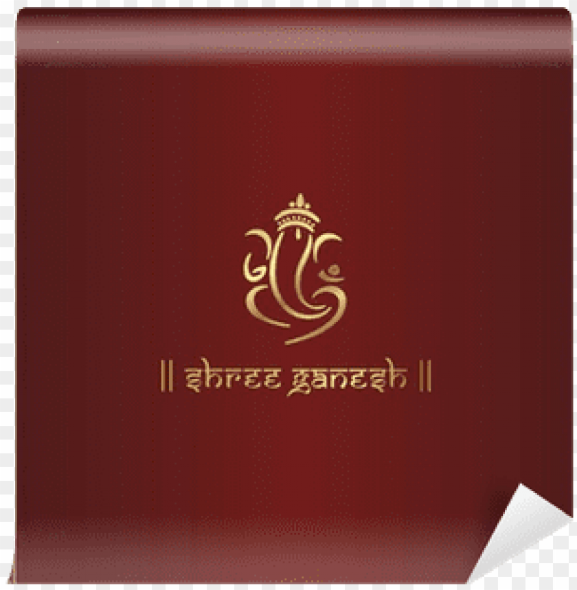 Anesha Hindu Wedding Card Royal Rajasthan India Emblem